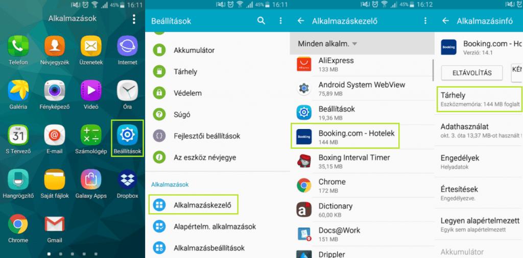 Android alkalmazás áthelyezése SD kártyára