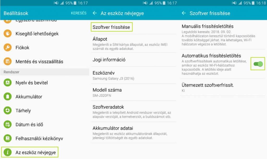 Android rendszer frissítés letöltés letiltása - Android 6