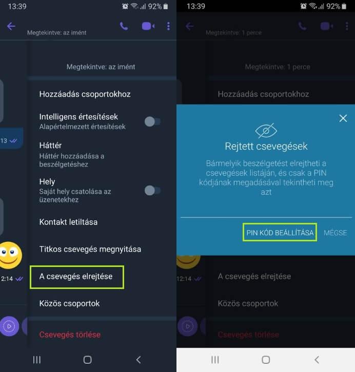 Viber rejtett csevegés aktiválása 2019