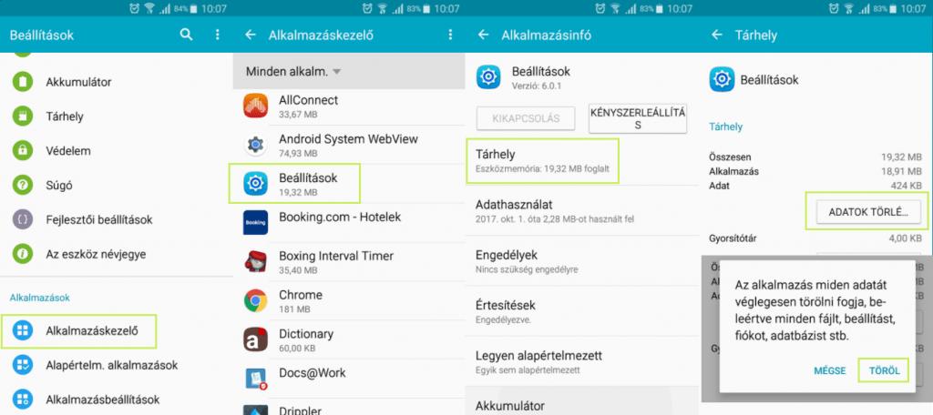 Android fejlesztői mód kikapcsolása útmutató