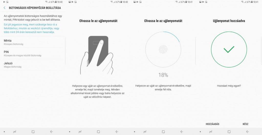 Ujjlenyomat mentése android telefonokon