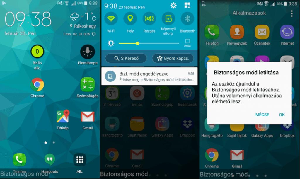 Android biztonsági üzemmód használata