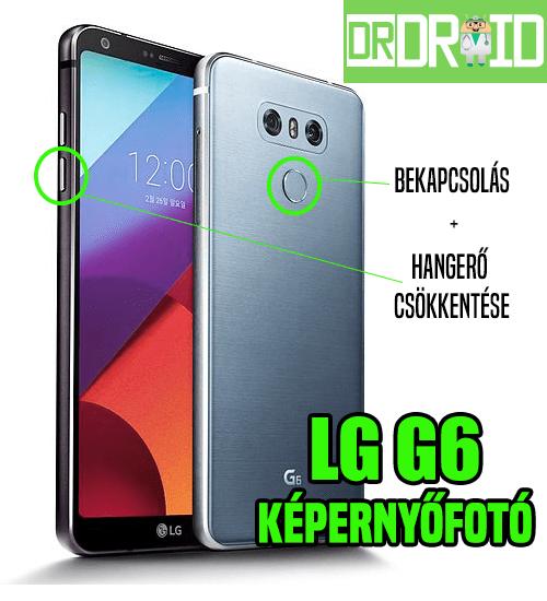 LG G6 képernyőfotó készítése