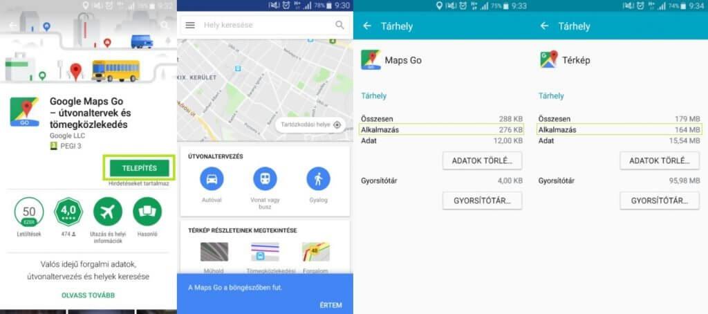 Google Maps Go letöltése