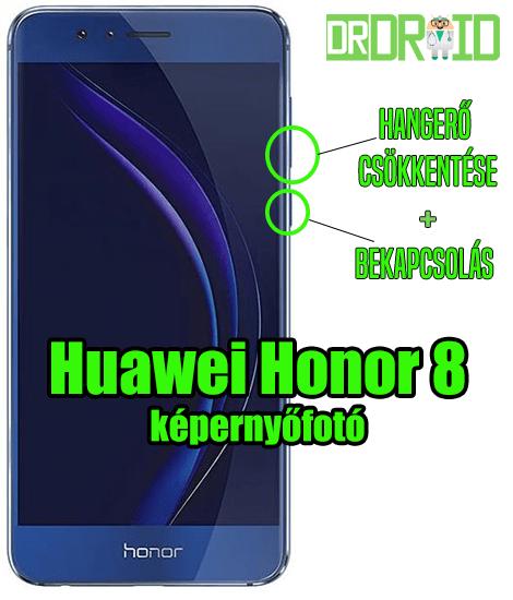 Huawei Honor 8 képernyőfotó készítése
