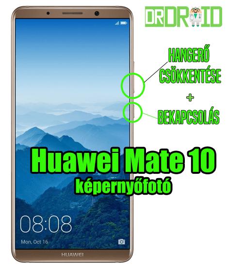 Huawei Mate 10 képernyőfotó készítés