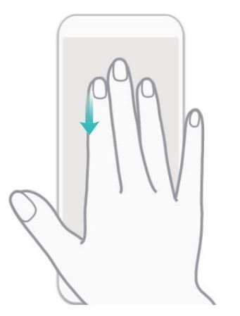 Képernyőfotó készítése három ujjunk csúsztatásával