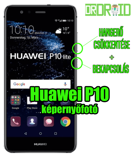 Huawei P10 képernyőfotó készítése