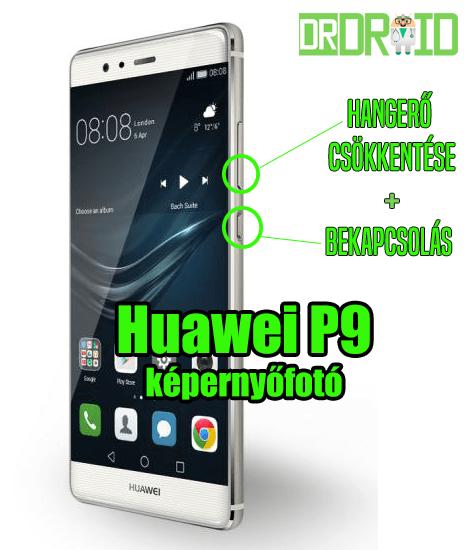 Huawei P9 képernyőfotó készítése