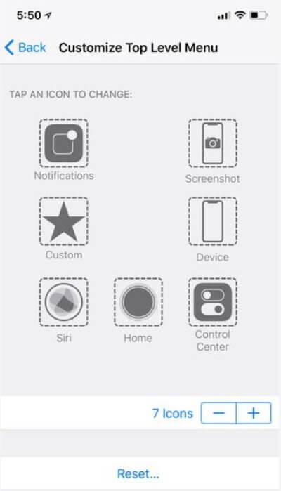 iPhone X képernyőfotó AssisticeTouch
