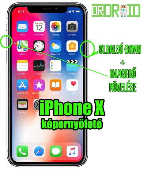 iPhone X képernyőfotó készítése