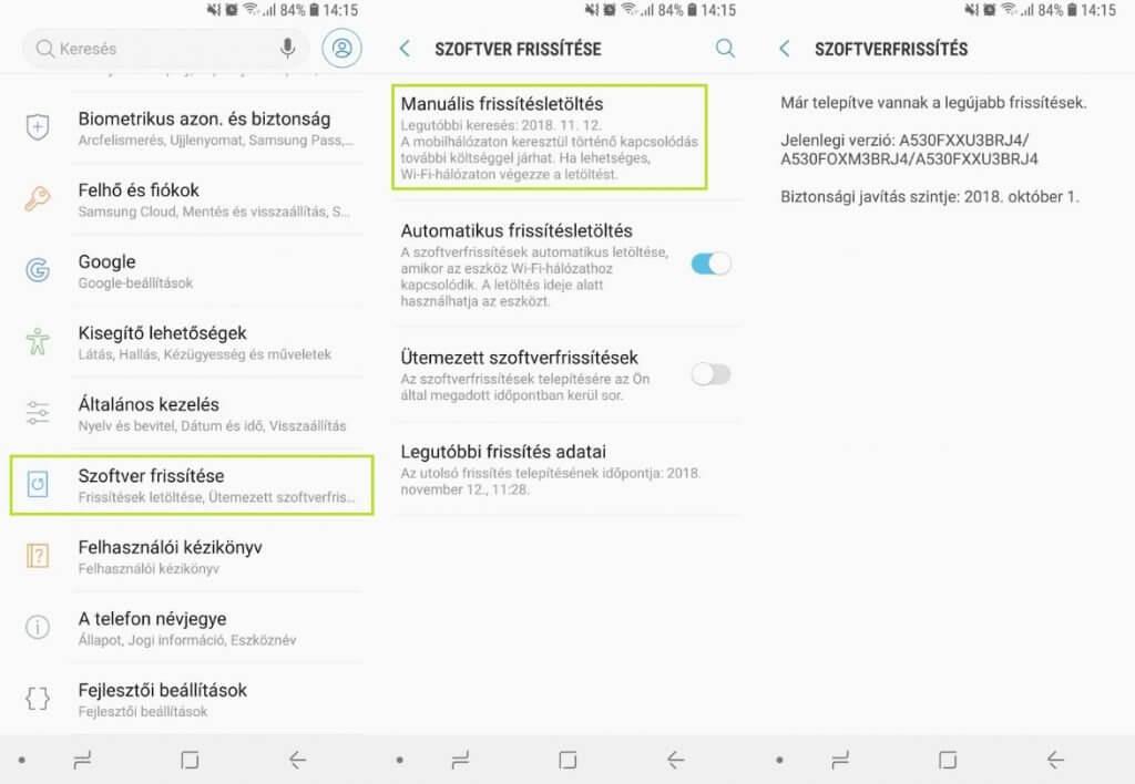 Android 8 frissítés letöltése
