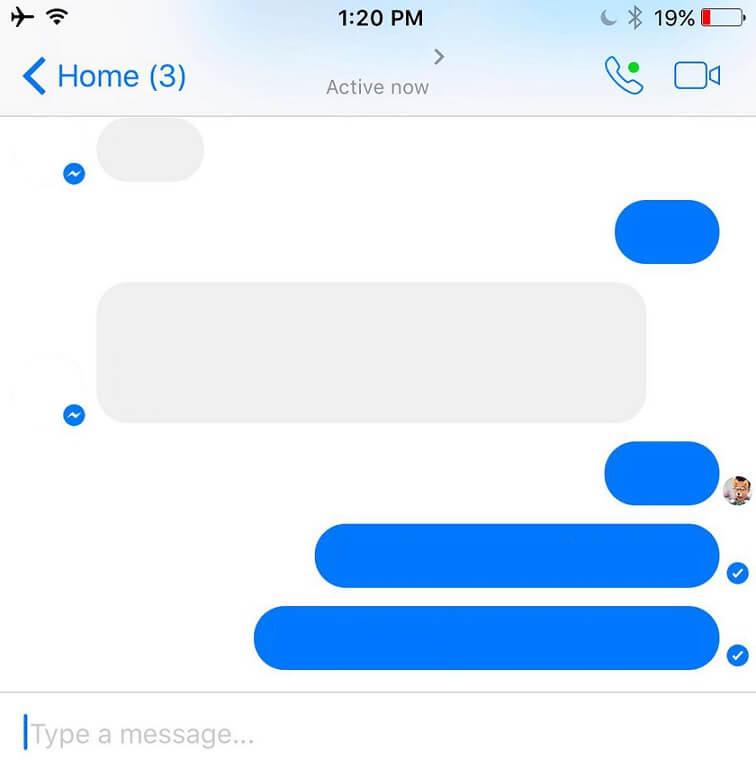 Messenger olvasott üzenet