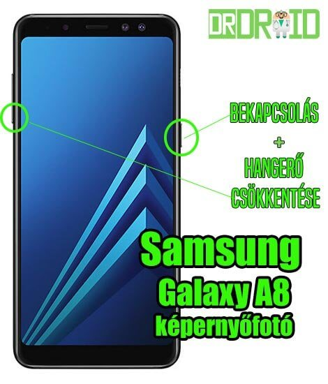 Samsing Galaxy A8 képernyőfotó készítése