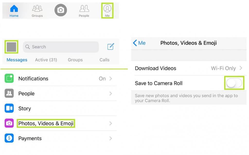 Messenger képek automatikus mentése iPhone telefonokon