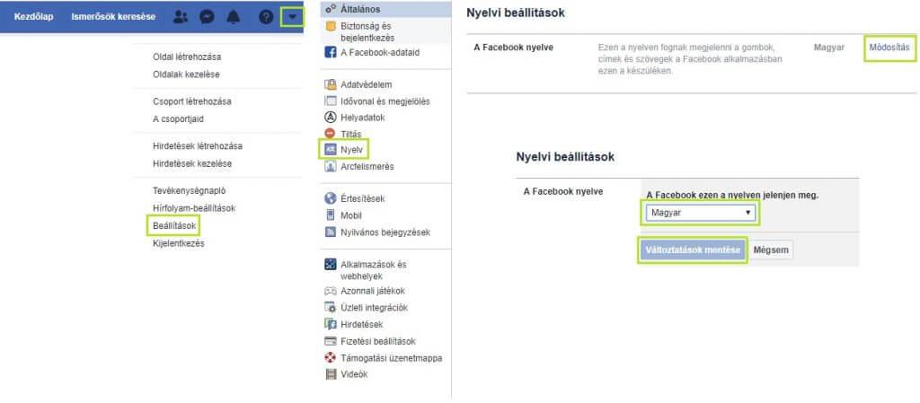 Messenger nyelv módosítása számítógépen