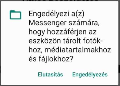 Messenger engedélykérések