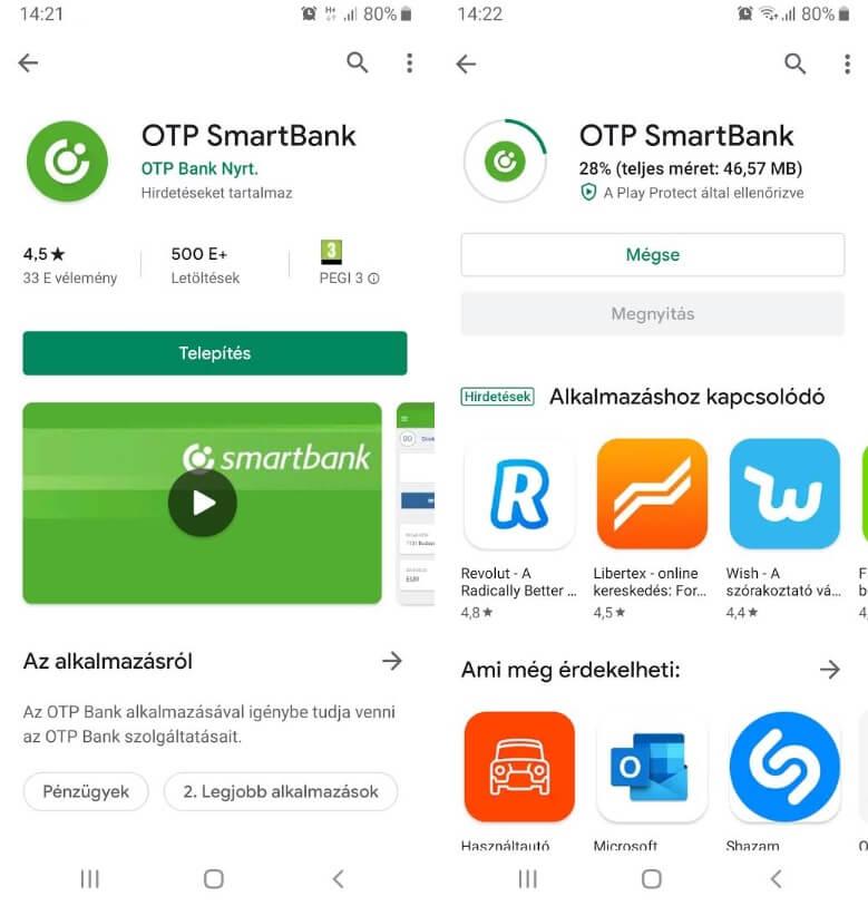 OTP SmartBank letöltés és telepítése
