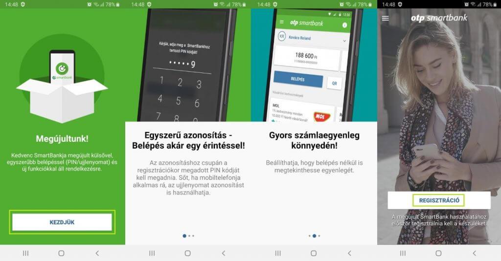OTP SmartBank regisztráció első lépései