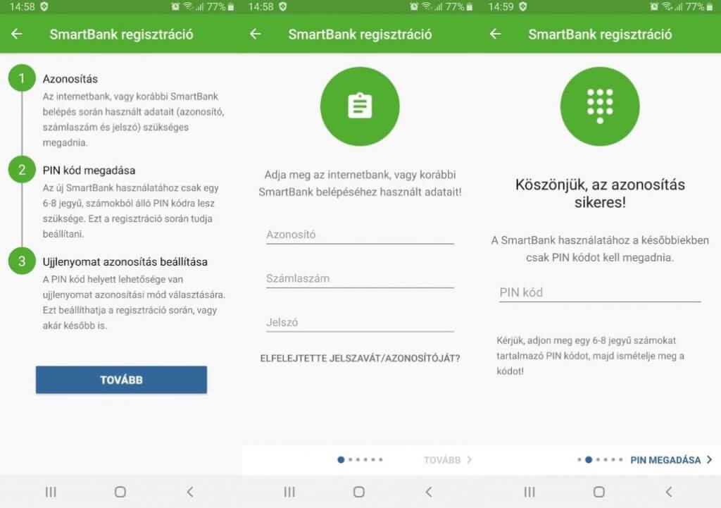 OTP SmartBank regisztráció aktiválás