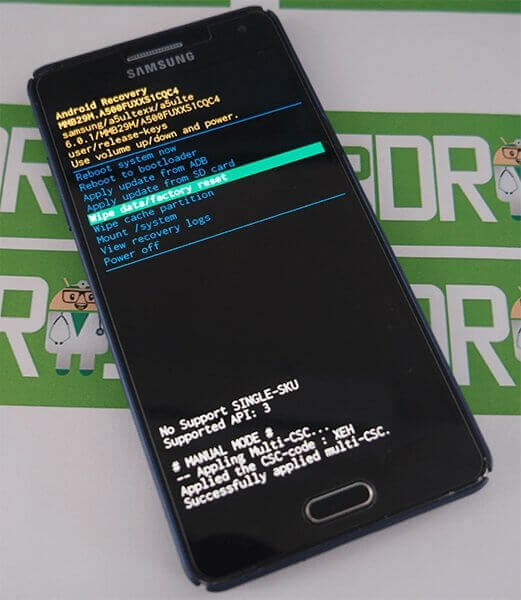 Android hard reset recovery módban
