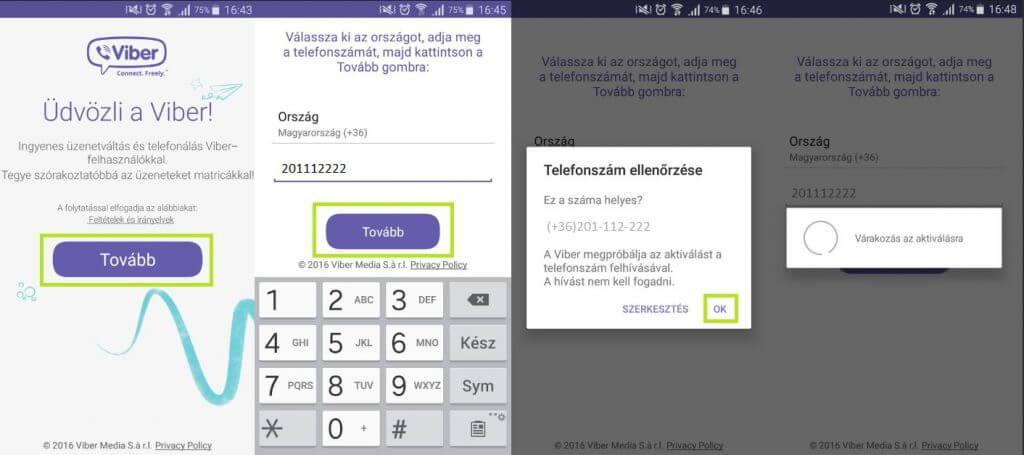 Viber regisztráció