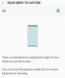 Samsung képernyőfotó készítése tenyérhúzással